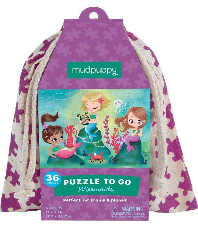 Mudpuppy   Puzzle To Go   Mermaids   36 pcs   3+