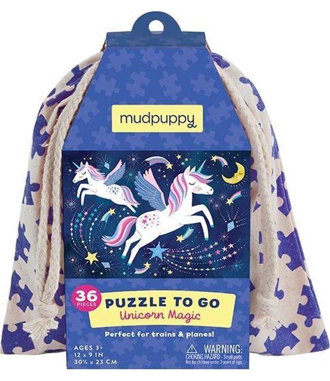 Mudpuppy   Puzzle To Go   Unicorn Magic   36 pcs   3+