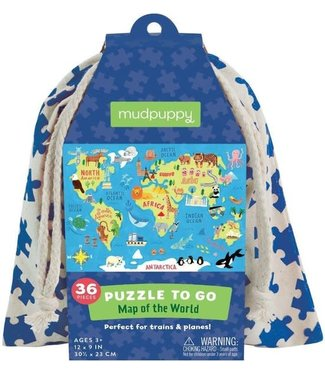 Mudpuppy Mudpuppy   Puzzle To Go   Map of the World   36 pcs   3+