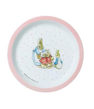 Petit Jour Petit Jour | Peter Rabbit | Bord Met Opstaande Rand | 18 cm | Roze rand | +6 mnd