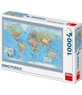 Dino Toys Dino Toys | Puzzel | Wereldkaart | 1000 stukjes