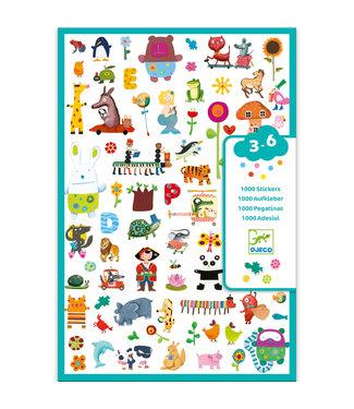 Djeco Djeco | 1000 Stickers | voor de Kleintjes | 3 - 6 jaar