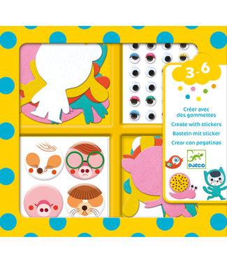 Djeco Djeco | Create With Stickers | I Love Animals | 3-6 jaar