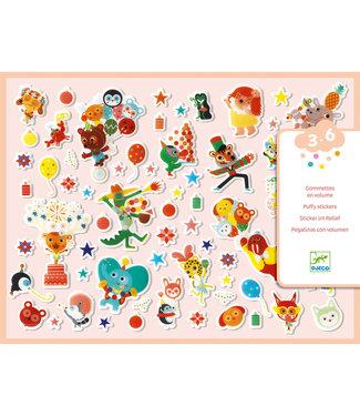 Djeco Djeco | 126 Puffy Stickers | Party | 3 - 6 jaar
