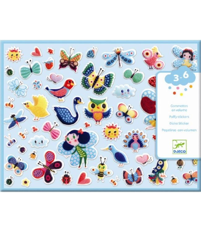 Djeco | 118 Puffy Stickers | Little Wings | 3 - 6 jaar