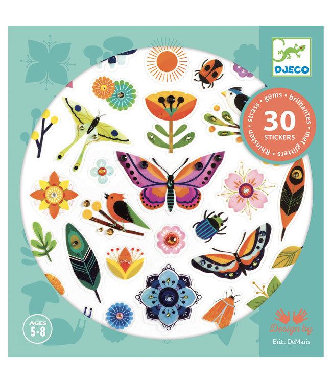 Djeco | Glitter Stickers | Harmonie | 30 delig | 5 - 8 jaar