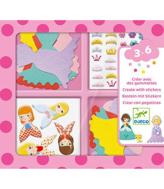 Djeco Djeco | Create With Stickers | I Love Princesses | 3 - 6 jaar