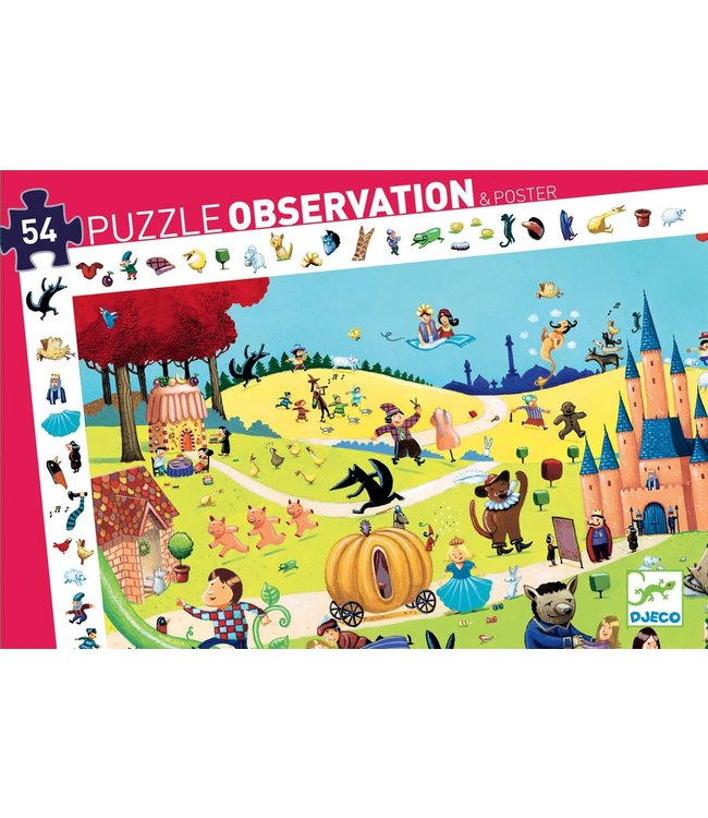 Djeco   Observation Puzzle   Tales   54 stukjes   4+