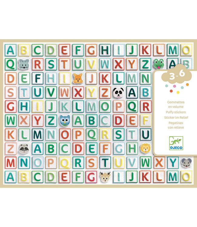 Djeco   Stickers   Alfabet stickers   3 - 6 jaar