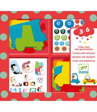Djeco Djeco | Create With Stickers | I Love Cars | 3 - 6 jaar