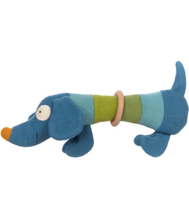 Sigikid | Baby Strick | Gebreid Grijpspeeltje | Hond | 25 cm | 0+