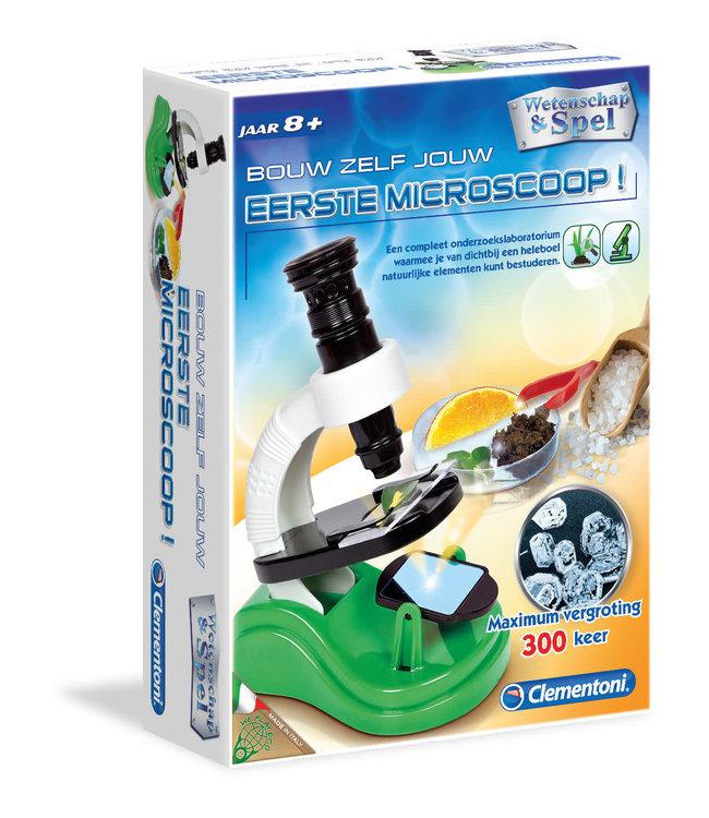 Clementoni   Wetenschap en Spel Bouw Zelf Jouw Eerste Microscoop   8+