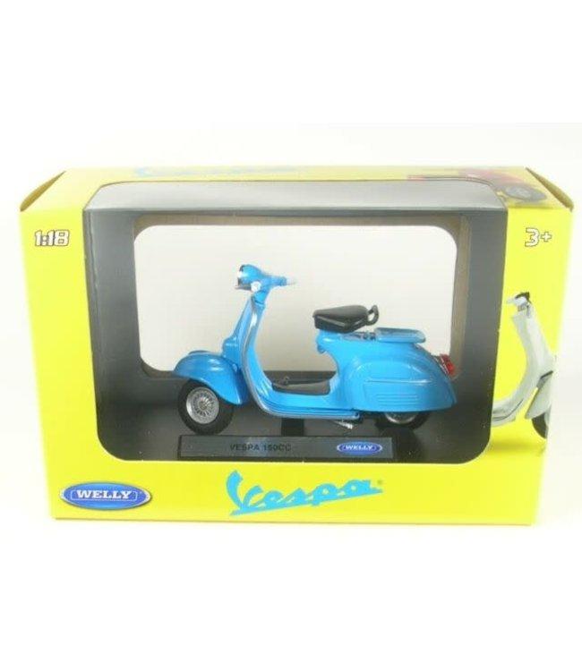 Welly | Vespa 150 CC | 1970 | Blue | 1:18 | 10 cm | 3+