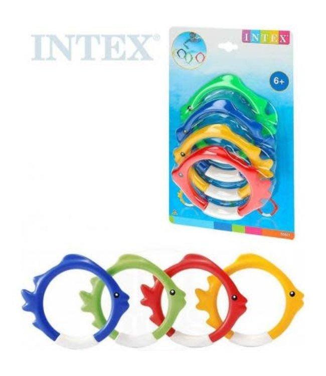 Intex | Duikringen | Vis  | 4 delig | 6+