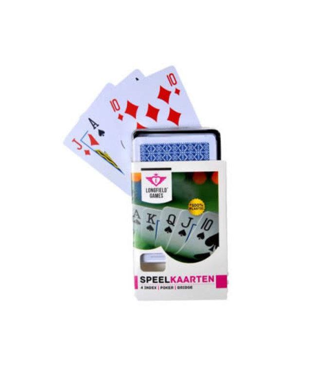 Longfield Games | Speelkaarten | 100 % Plastic | 4 index