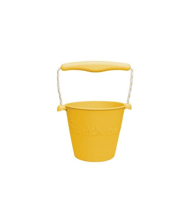 Scrunch | Opvouwbare Emmer | 1,5 liter | 15 cm | Mosterd kleur | 3+