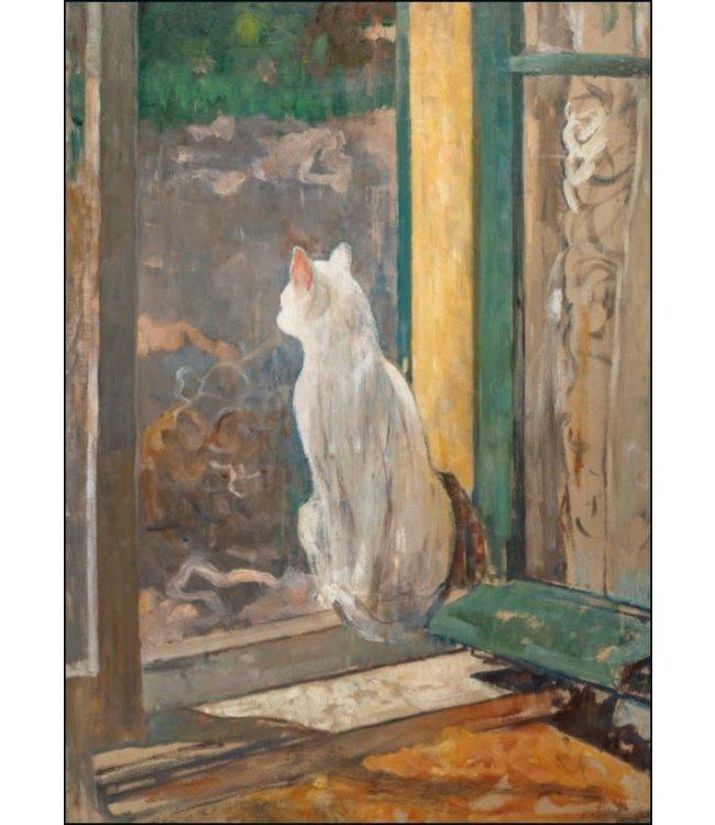 Bekking & Blitz   Jacobus van Looy   Witte poes in een open raam