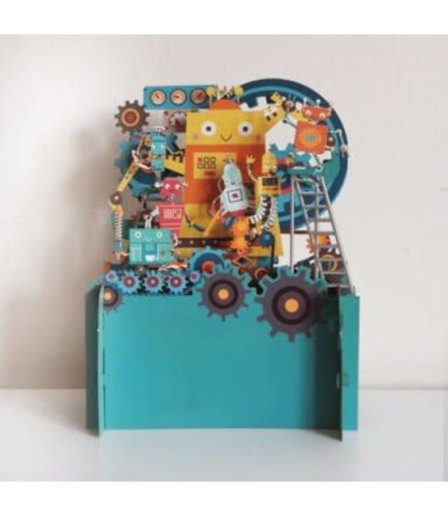 Alljoy Design | 3D | Pop-up Kaart | Robot