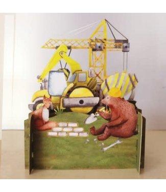 Alljoy Design | 3D | Pop-up Kaart | Bouwplaats