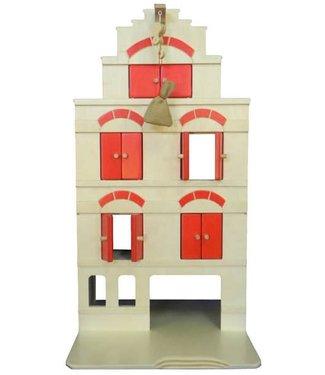 van Dijk Toys van Dijk | Pakhuis | Rood | inclusief erwten zakje | 2+