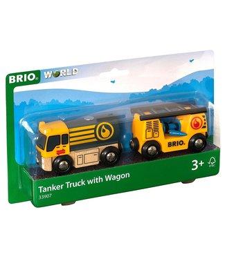 Brio Brio  World   Tanker Truck with Wagon   3+