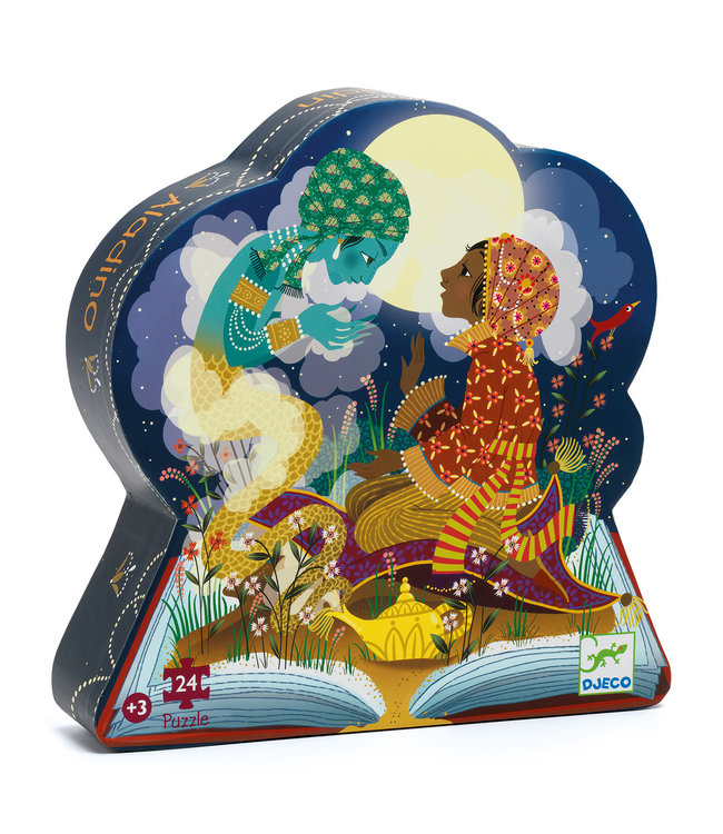 Djeco | Silhouet Puzzel | Aladdin | 24 stukjes | 3+