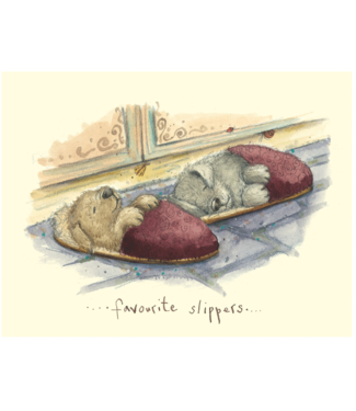 Two Bad Mice | Fran Evans |  . . . favourite slippers . . .