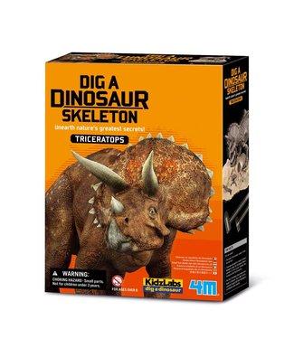 4M 4M KidzLabs | Graaf je dinosaurus op | Triceratops | 8+