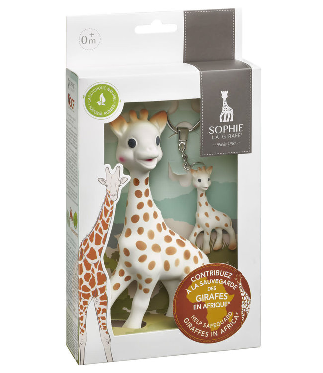 Sophie de giraf + sleutelhanger Save the Giraffes set   0+