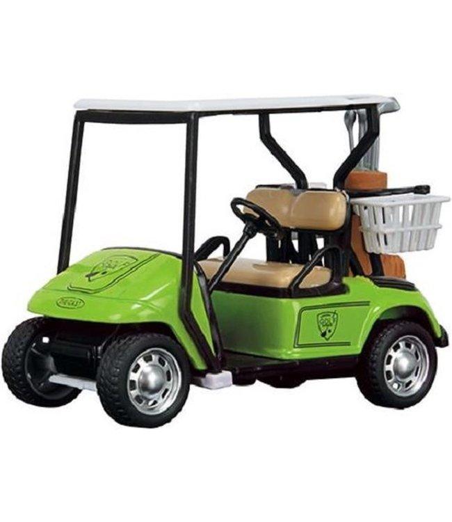 Toi Toys | Metal Golfkar | Pull-back  | Golfauto | Groen | 10 cm 3+