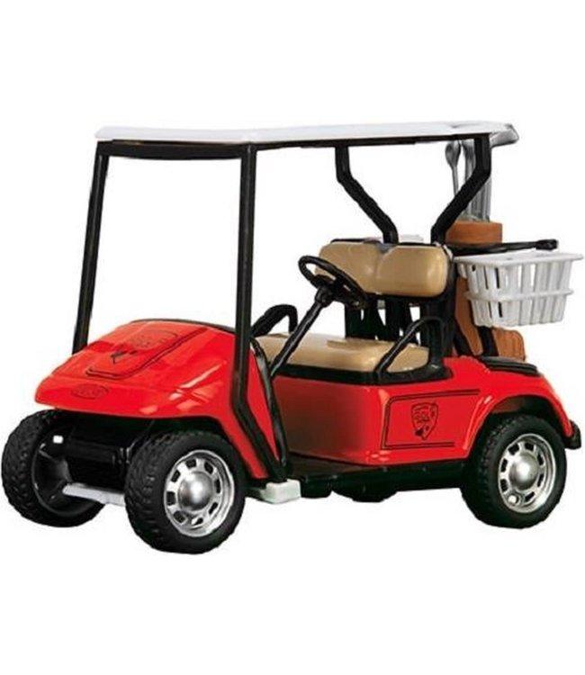 Toi Toys | Metal Golfkar | Pull-back  | Golfauto | Rood | 10 cm 3+