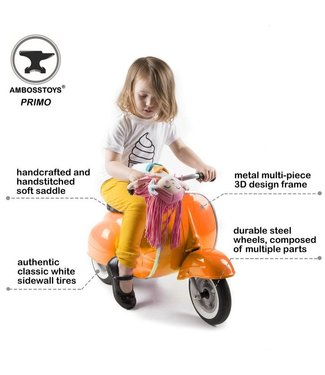 Ambosstoys Ambosstoys | Primo | Classic Kids Ride On Scooter | Orange | 1-5 Jaar