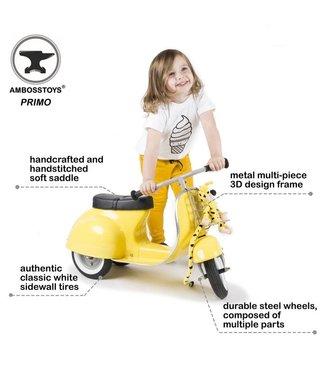 Ambosstoys Ambosstoys | Primo | Classic Kids Ride On Scooter | Yellow | 1-5 Jaar