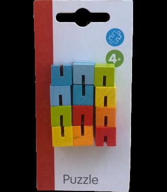 Goki | Cube Puzzle | Slang puzzel met elastiek | 4+
