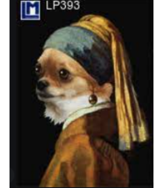 Lenticulaire Kaart Bewegend | Vermeer | Hond met de Parel | Knipoog