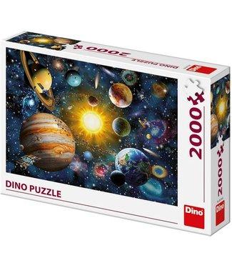 Dino Toys Dino Toys | Panoramische puzzel  | The solar System | 2000 stukjes