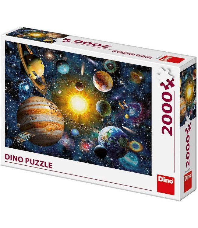 Dino Toys | Panoramische puzzel  | The solar System | 2000 stukjes