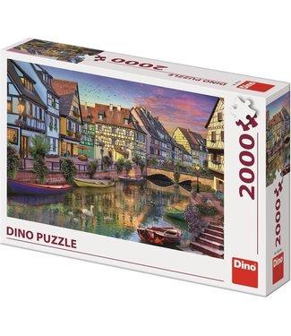 Dino Toys Dino Toys | Panoramische puzzel  | Romantic Evening | 2000 stukjes