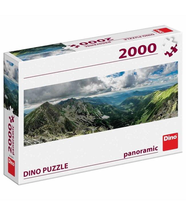 Dino Toys | Panoramische puzzel  | Skigebied Rohace | 2000 stukjes