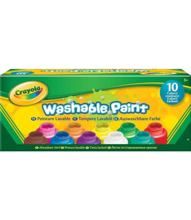 Crayola | Uitwasbare Verf | 10 potjes | 3+
