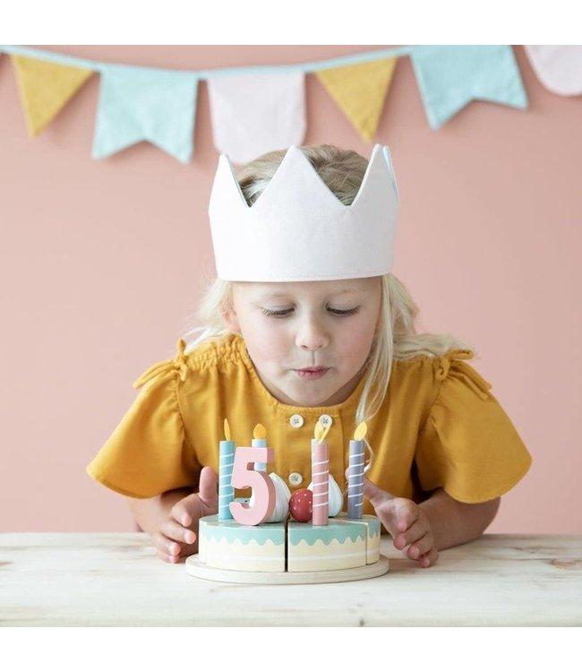 Little Dutch | Houten Snijdbare Verjaardagstaart | 3+