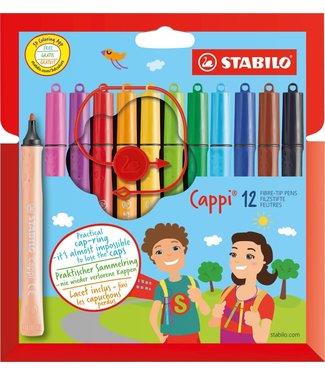 Stabilo Stabilo | Viltstiften | Cappi Viltstiften in Etui | 12 Kleuren | 3+