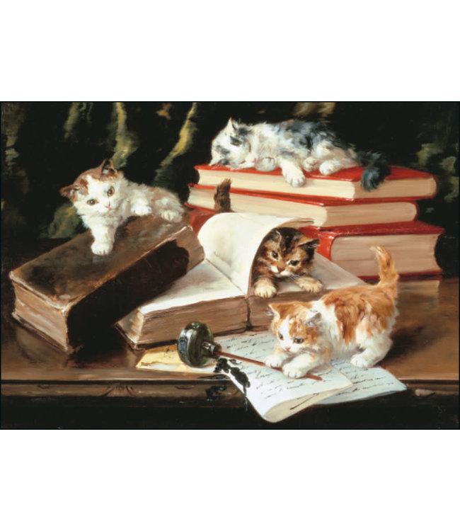 Bekking & Blitz   Alfred-Arthus Brunel de Neuville   Kittens Playing on a Desk