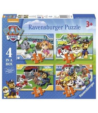 Ravensburger Ravensburger   Paw Patrol   12+16+20+24 stukjes   3+