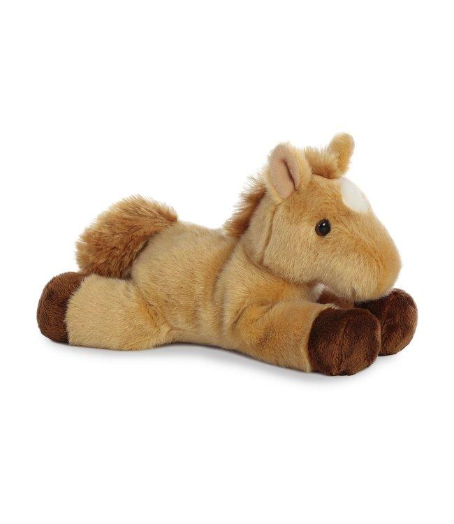 Aurora | Mini Flopsie | paard Prancer licht bruin | 20,5 cm | 0+