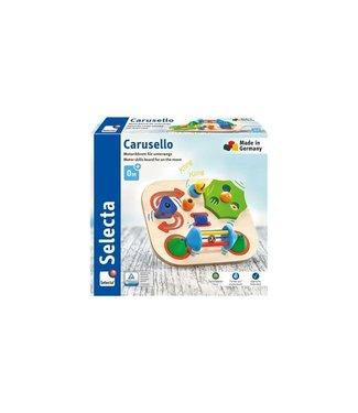 Selecta Selecta | Houten Motoriekbord voor onderweg | Carusello | 19 cm | 0+