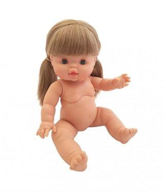 Paola Reina Paola Reina | Gordi Babypop | Meisje met Blauwe Ogen | Blond Haar in Twee Staarten | Elja | 34 cm