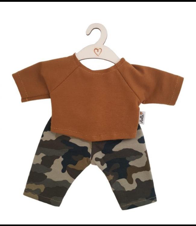 Hollie    Poppenkleding   Poppenbroek en -shirt   Camouflage Ochre   34 cm   2+