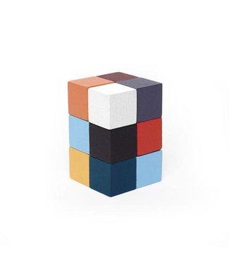 Kikkerland | Elasti Cube 3D Wooden Puzzle | 4 x 6 cm | 5+