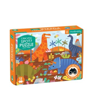 Mudpuppy Mudpuppy   Puzzle   Can You Spot ?   Dino Park   12 pieces   2+